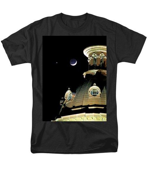 Venus And Crescent Moon-1 Men's T-Shirt  (Regular Fit) by Charles Hite