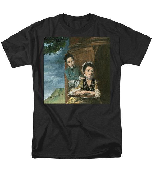 Men's T-Shirt  (Regular Fit) featuring the painting Vintage Mother And Son by Mary Ellen Anderson