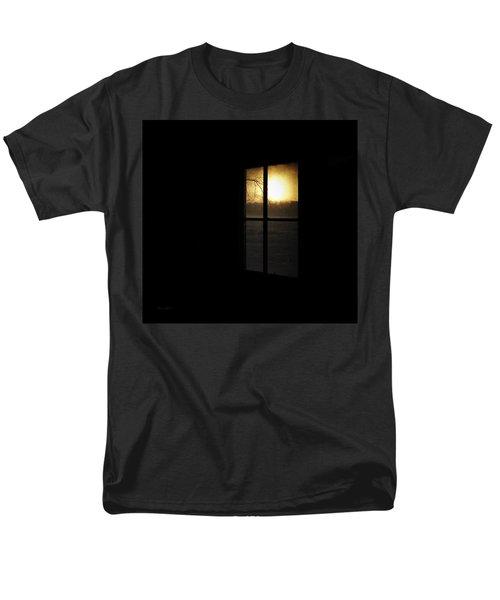 Winter Sunset Men's T-Shirt  (Regular Fit) by Cynthia Lassiter