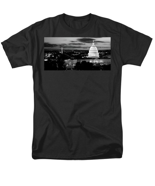 High Angle View Of A City Lit Men's T-Shirt  (Regular Fit) by Panoramic Images