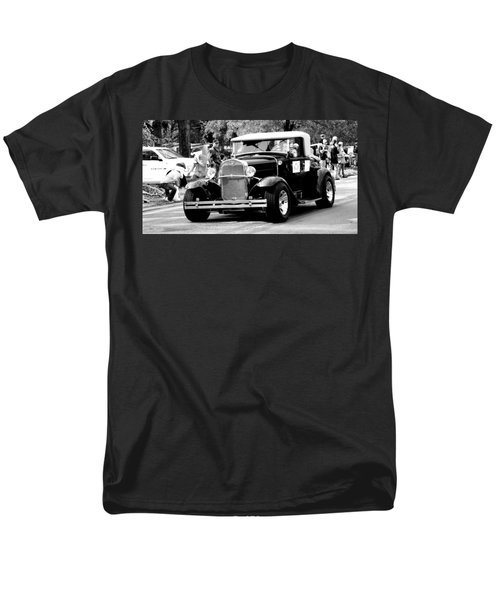 Men's T-Shirt  (Regular Fit) featuring the photograph 1934 Classic Car In Black And White by Ester  Rogers