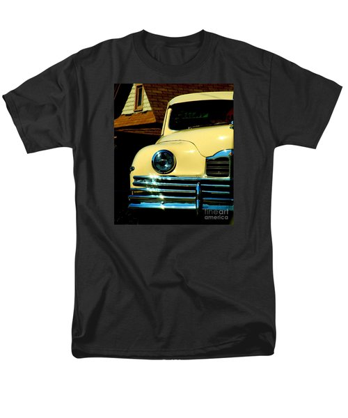 Men's T-Shirt  (Regular Fit) featuring the photograph 1950 Yellow Packard by Janette Boyd