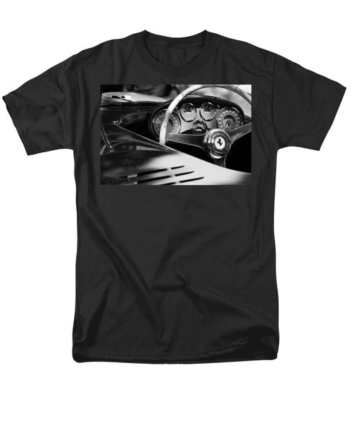 1954 Ferrari 500 Mondial Spyder Steering Wheel Emblem Men's T-Shirt  (Regular Fit) by Jill Reger