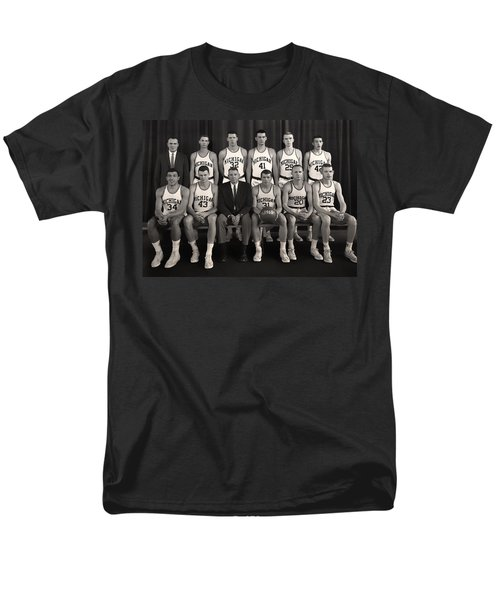 1960 University Of Michigan Basketball Team Photo Men's T-Shirt  (Regular Fit) by Mountain Dreams