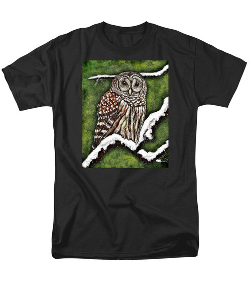 Men's T-Shirt  (Regular Fit) featuring the painting Barred Owl by VLee Watson