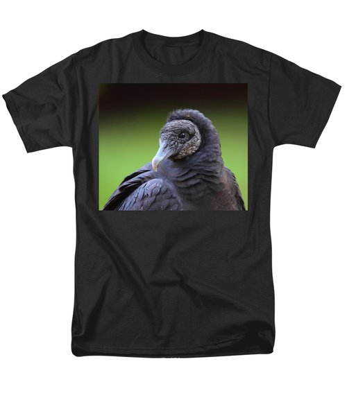 Black Vulture Portrait Men's T-Shirt  (Regular Fit) by Bruce J Robinson