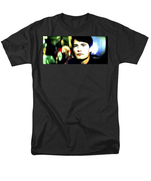Men's T-Shirt  (Regular Fit) featuring the painting Blue Velvet by Luis Ludzska