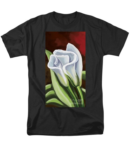 Men's T-Shirt  (Regular Fit) featuring the painting Calla Lilies by Tim Gilliland