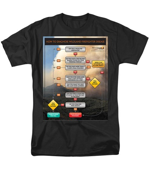 Men's T-Shirt  (Regular Fit) featuring the photograph Diagnosing Wildland Firefighter Disease by Bill Gabbert