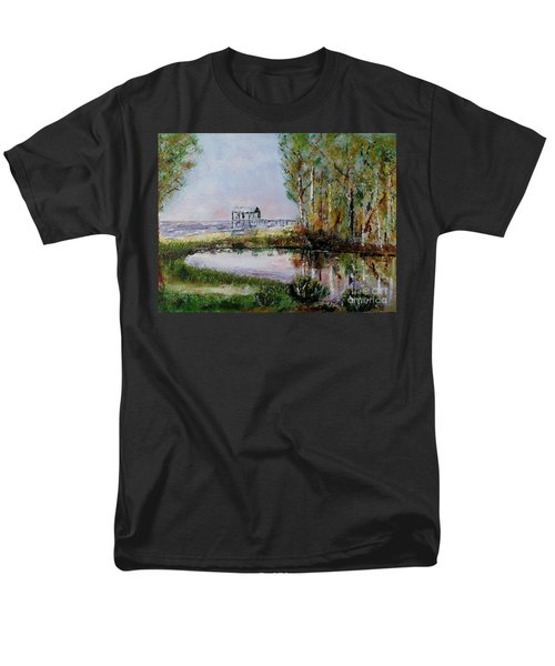 Men's T-Shirt  (Regular Fit) featuring the painting Fairhope Al. Duck Pond by Melvin Turner