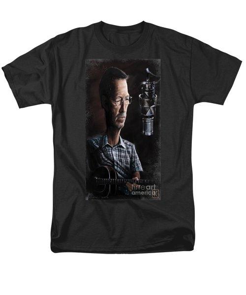 Eric Clapton Men's T-Shirt  (Regular Fit) by Andre Koekemoer