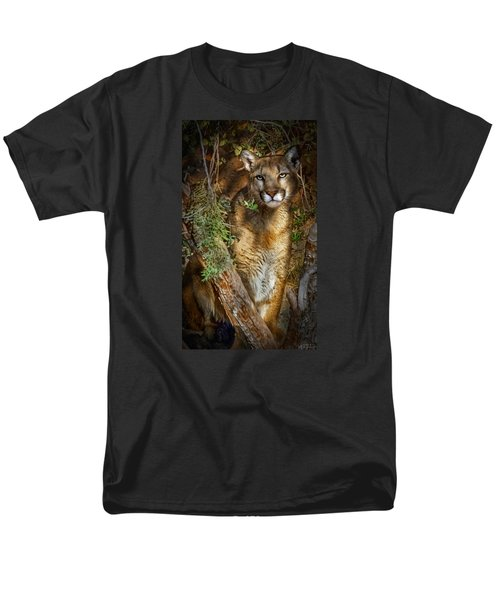 Men's T-Shirt  (Regular Fit) featuring the photograph Hiding by Elaine Malott