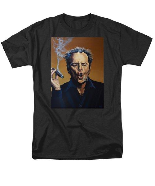 Jack Nicholson Painting Men's T-Shirt  (Regular Fit) by Paul Meijering
