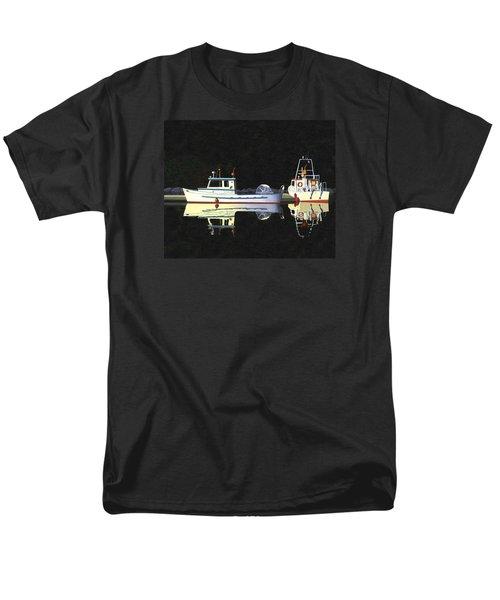 Last Light  Island Moorage Men's T-Shirt  (Regular Fit) by Gary Giacomelli