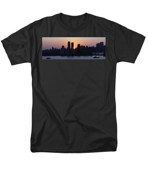 Men's T-Shirt  (Regular Fit) featuring the photograph Morning On The Hudson by Lilliana Mendez