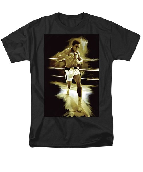 Muhammad Ali Boxing Artwork Men's T-Shirt  (Regular Fit) by Sheraz A