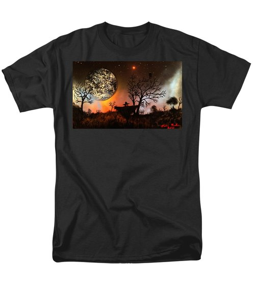 Men's T-Shirt  (Regular Fit) featuring the painting Night Of The Scarecrow  by Michael Rucker