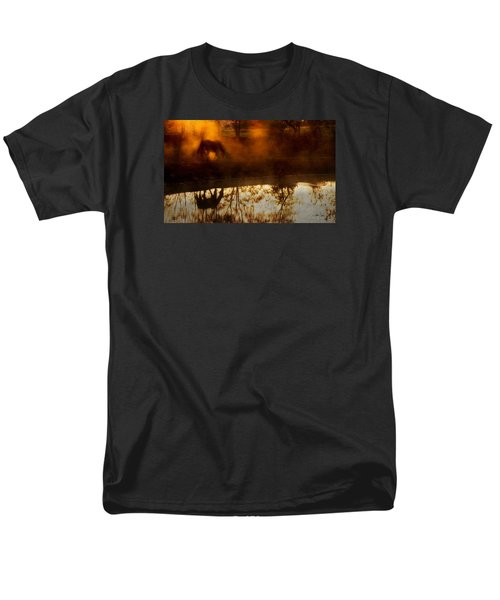 Men's T-Shirt  (Regular Fit) featuring the photograph Orange Mist by Joan Davis