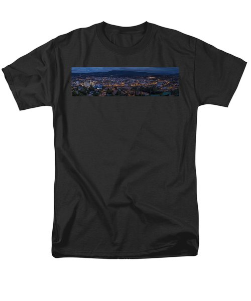 Men's T-Shirt  (Regular Fit) featuring the photograph Pontevedra Panorama From A Caeira by Pablo Avanzini