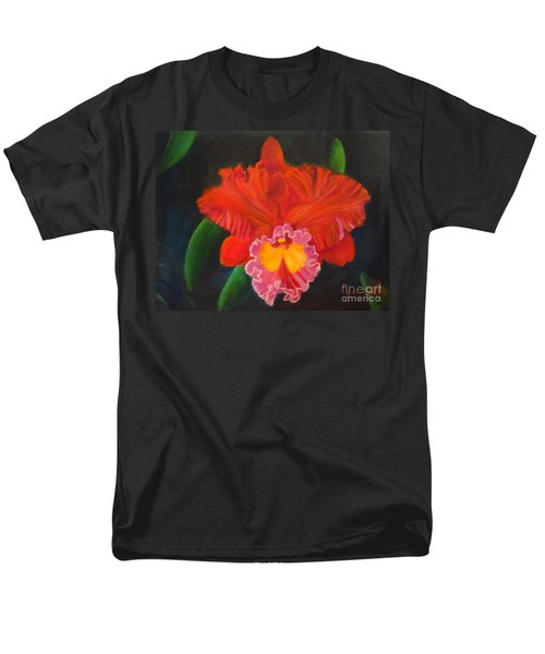 Men's T-Shirt  (Regular Fit) featuring the painting Red Orchid by Jenny Lee