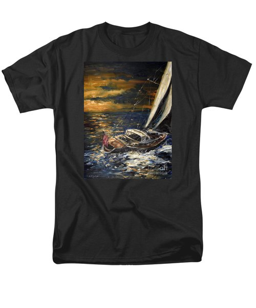 Sailing Men's T-Shirt  (Regular Fit) by Arturas Slapsys