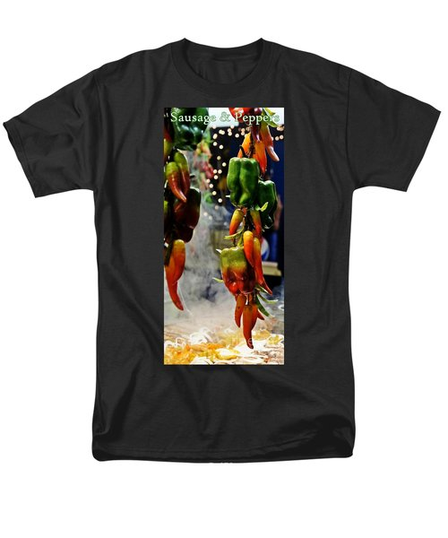 Men's T-Shirt  (Regular Fit) featuring the photograph Sausage And Peppers by Lilliana Mendez