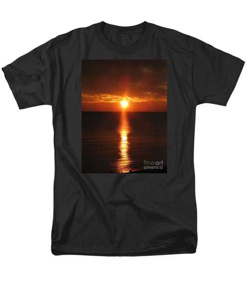 Sky On Fire Men's T-Shirt  (Regular Fit) by Christiane Schulze Art And Photography