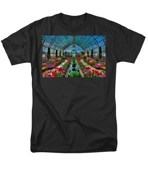 Sunken Garden Como Conservatory Men's T-Shirt  (Regular Fit) by Amanda Stadther