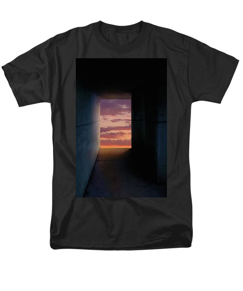 Tunnel With Light Men's T-Shirt  (Regular Fit) by Melinda Fawver