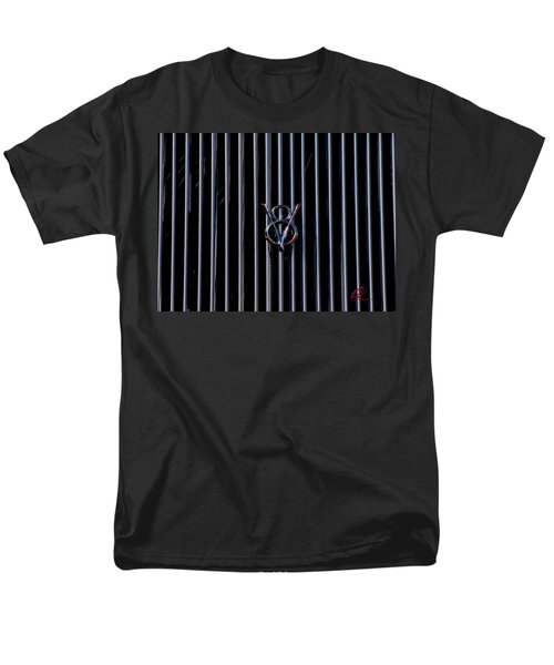 Men's T-Shirt  (Regular Fit) featuring the photograph V8 Grill by Chris Thomas