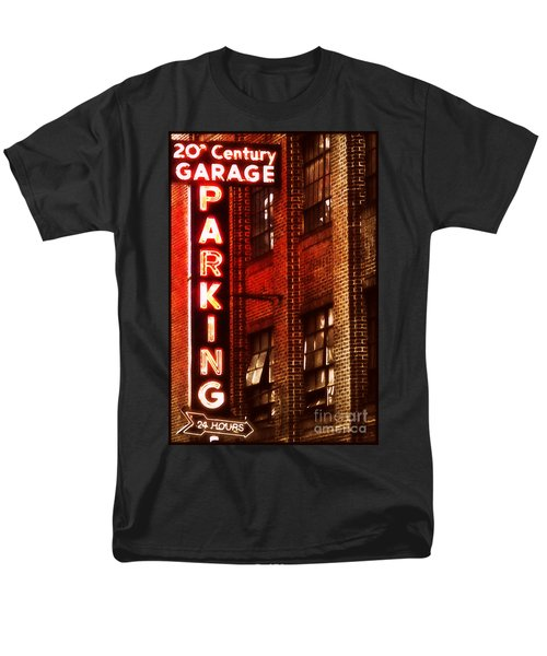 Men's T-Shirt  (Regular Fit) featuring the photograph 24-hour Garage by Miriam Danar