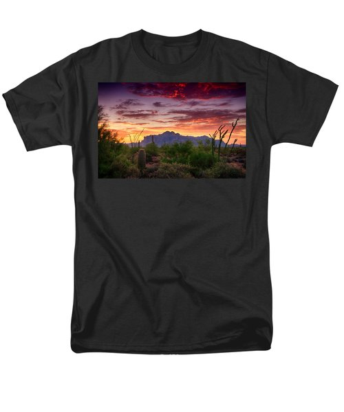 A Superstition Sunrise  Men's T-Shirt  (Regular Fit) by Saija  Lehtonen