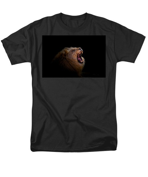 Men's T-Shirt  (Regular Fit) featuring the photograph African Lion by Peter Lakomy