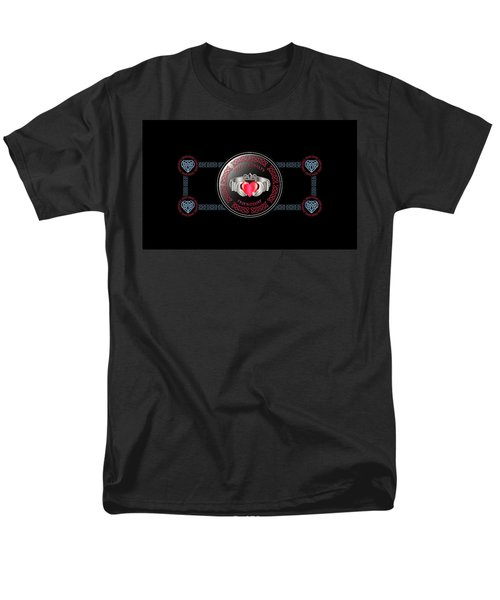 Celtic Claddagh Ring Men's T-Shirt  (Regular Fit) by Ireland Calling