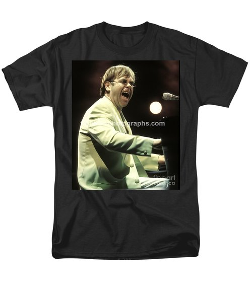 Elton John Men's T-Shirt  (Regular Fit) by Concert Photos