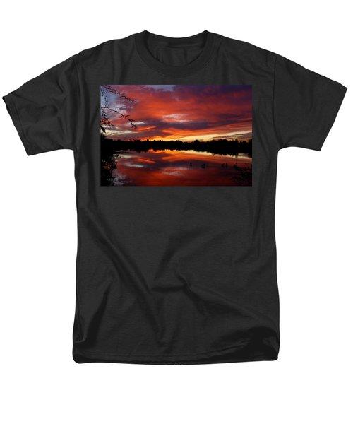 Men's T-Shirt  (Regular Fit) featuring the photograph Riparian Sunset by Tam Ryan
