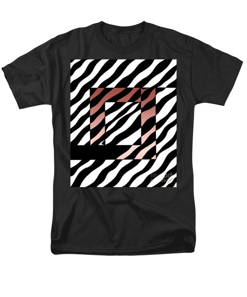 Men's T-Shirt  (Regular Fit) featuring the drawing 3 Squares With Ripples by Joseph J Stevens