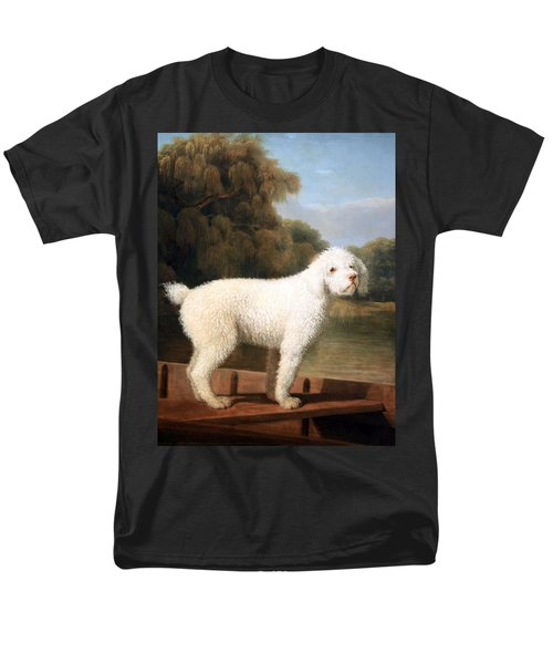 Stubbs' White Poodle In A Punt Men's T-Shirt  (Regular Fit) by Cora Wandel