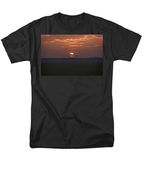 The Setting Sun In The Distance With Clouds Men's T-Shirt  (Regular Fit) by Ashish Agarwal