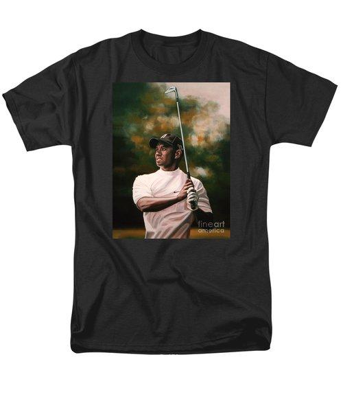 Tiger Woods  Men's T-Shirt  (Regular Fit) by Paul Meijering