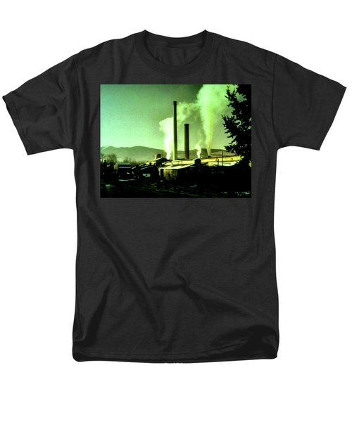 Men's T-Shirt  (Regular Fit) featuring the painting Twin Peaks by Luis Ludzska