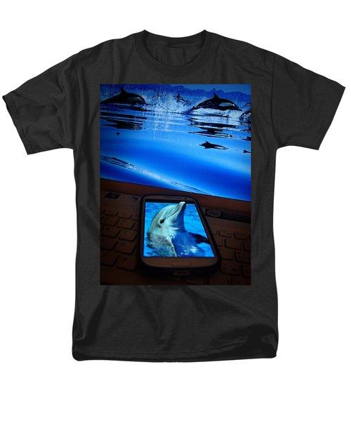 3d Phone... Men's T-Shirt  (Regular Fit) by Alessandro Della Pietra