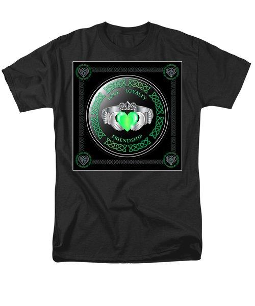 Claddagh Ring Men's T-Shirt  (Regular Fit) by Ireland Calling