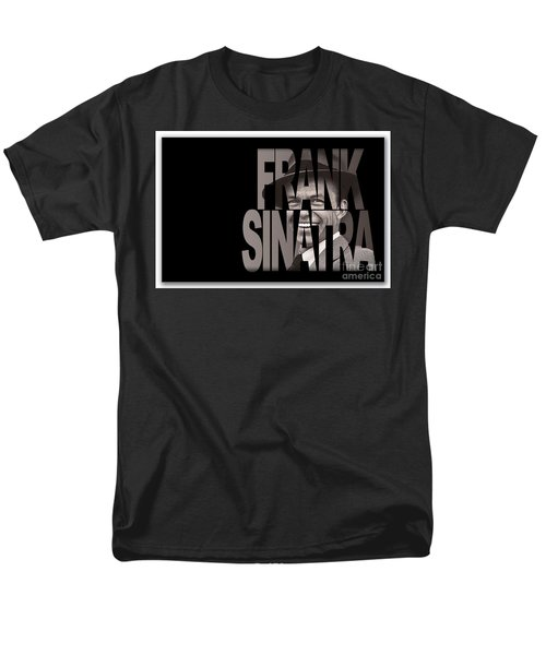 Men's T-Shirt  (Regular Fit) featuring the mixed media Frank Sinatra Art by Marvin Blaine