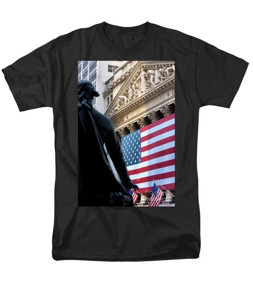 Wall Street Flag Men's T-Shirt  (Regular Fit) by Brian Jannsen