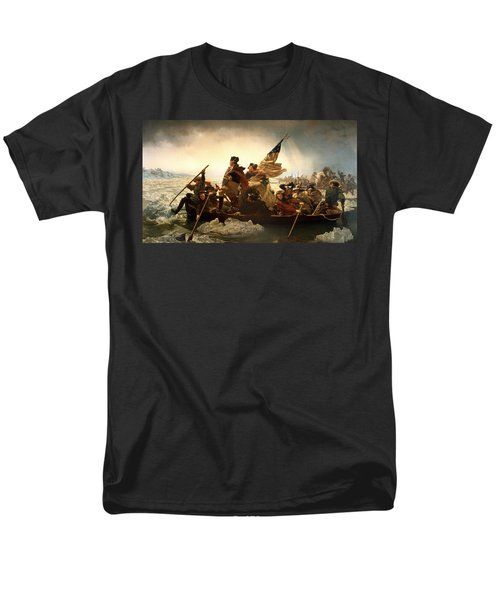 Men's T-Shirt  (Regular Fit) featuring the photograph Washington Crossing The Delaware by Emanuel Leutze
