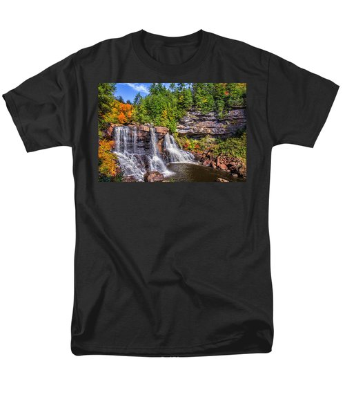 Blackwater Falls Men's T-Shirt  (Regular Fit) by Mary Almond