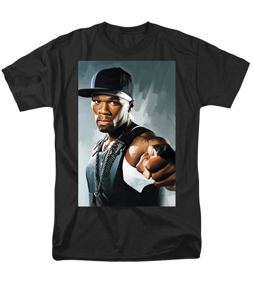 50 Cent Artwork 2 Men's T-Shirt  (Regular Fit) by Sheraz A