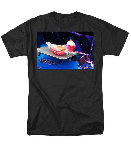 57 Chevy At A Drive-in Men's T-Shirt  (Regular Fit) by Gunter Nezhoda