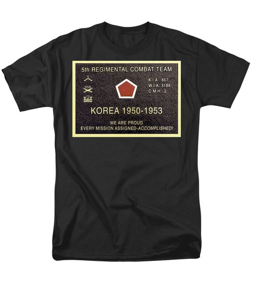5th Regimental Combat Team Arlington Cemetary Memorial Men's T-Shirt  (Regular Fit) by Bob and Nadine Johnston
